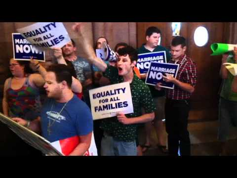 Same-Sex Marriage Demonstrations at NY Capitol