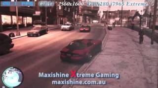 GTA4  i7extreme 2560x1600 Maxishine Video