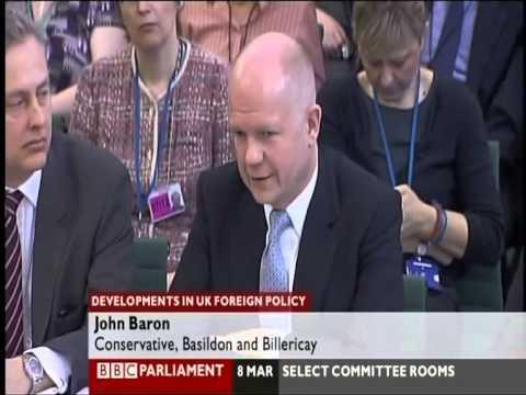 William Hague - UK v Iran, Attack Legality