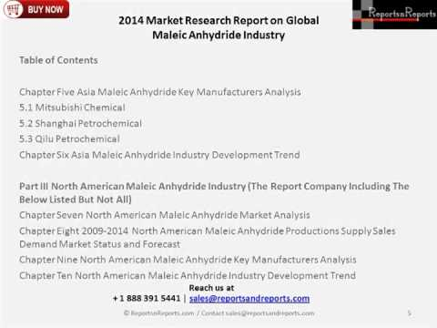 Global and China Maleic Anhydride Industry Review Covered in a New Market Research