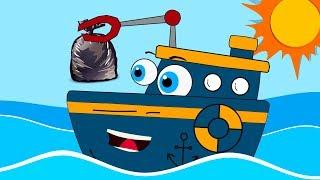 Baby Shark & Mermaid Stops Marine Pollution Nursery Rhymes and Cartoons for kids