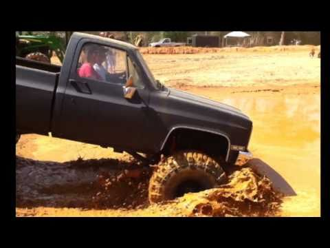 CHEVY SB WITH 44's and Dana 60 MUDDIN AT SHORTY'S Music Videos