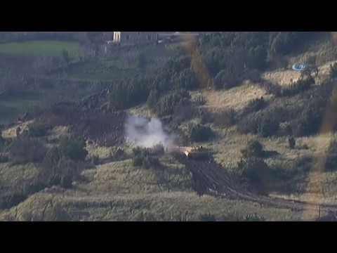 Tanklar Teröristlerin Mevzilerini Böyle Vurdu