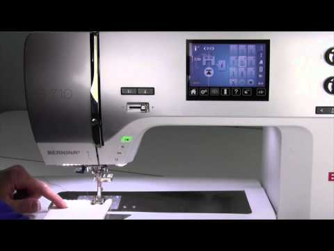 Bernina 710 43 Securing Stitch #5