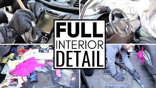 Cleaning The Dirtiest Car Interior Ever! Complete Disaster Full Interior Car Detailing Honda Odyssey