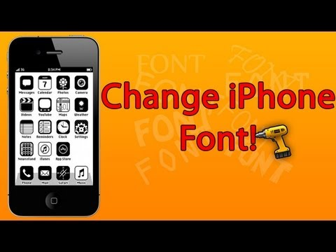 (iOS 6) How to CHANGE Font on iPhone - iPad Mini - iPad - iPod touch