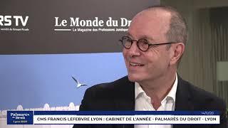 Décideurs du Droit - CMS Francis Lefebvre Avocats Lyon - Lauréat du Palmarès du Droit - Lyon 2020