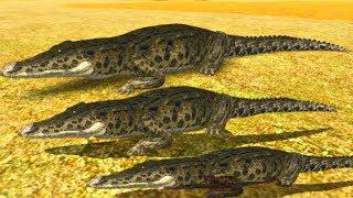 Irmãos Jacarés Dominando o Território De Outras Especies Na Savana! Animais Roblox