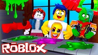 WE CREATE A SLIME FACTORY IN ROBLOX 😂 HOW TO MAKE SLIME HOME