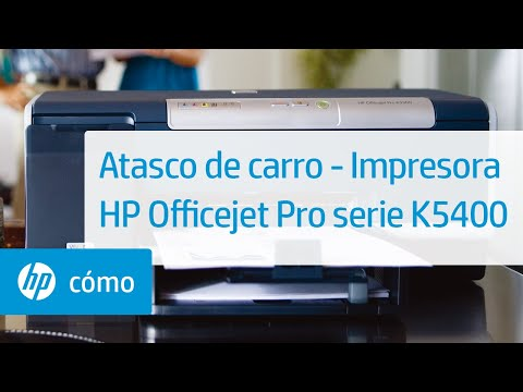 Atasco de carro  - Impresora HP Officejet Pro serie K5400