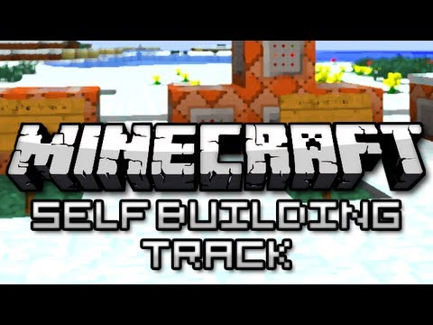 Minecraft: Infinite Self Building Minecart Track! (Snapshot 13w39) Music Videos