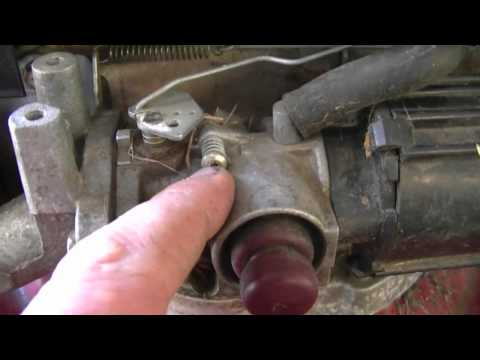 How To Adjust The Engine Speed On A Tecumseh Lawnmower Engine