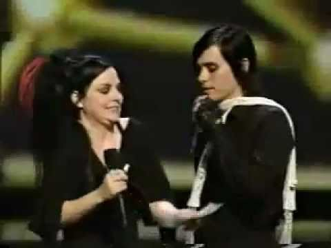 Jared Leto flirting with Amy Lee Music Videos