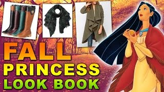 Disney Princess Fall Fashion Lookbook | Rapunzel, Cinderella, Pocahontas & More!