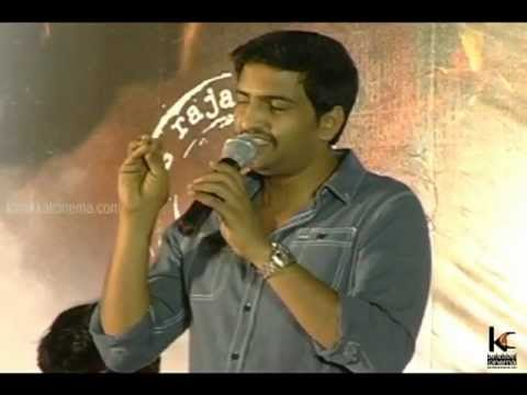 Santhanam and Madhan Karky at Naan Ee Movie Press Meet