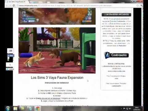 como descargar e instalar los sims 3 vaya fauna PC