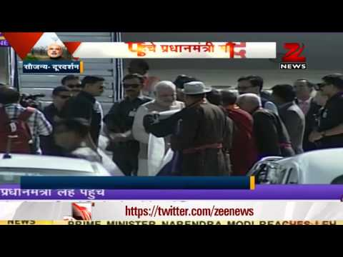 PM Narendra Modi reaches Leh to inaugurate hydro-electric power project
