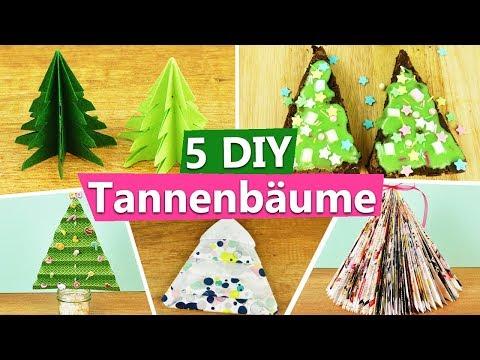 17:58 TANNENBAUM Basteln | 5 Tolle DIY IDEEN Für Euren Eigenen, Kleinen  Weihnachtsbaum | Roomdeko Geschenk