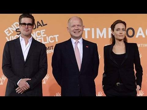 Angelina Jolie & Brad Pitt at Third Day of Sexual Violence Summit...