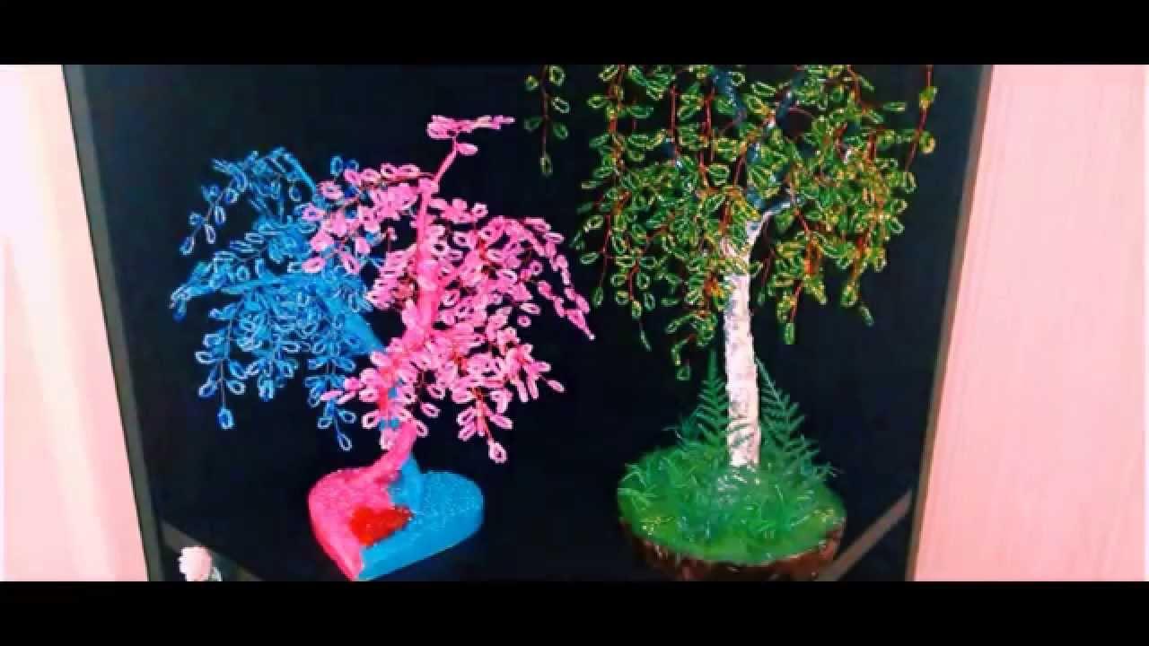 Дерево из бисера уроки