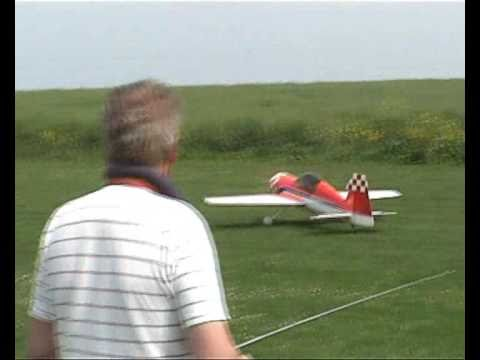 Radial engine powered RC LARGE aerobatic plane.
