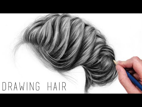How to Draw Realistic Hair with Graphite Pencils | Drawing Tutorial Step by Step