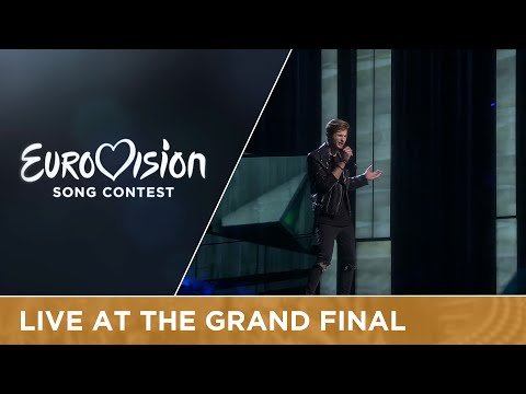 LIVE - Justs - Heartbeat (Latvia) at the Grand Final of the 2016 Eurovision Song Contest