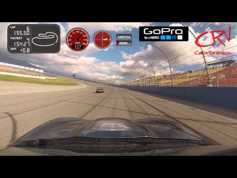 ZR1 Mike racing along with Anthony Rossi on the ROVAL at Auto Club Spe