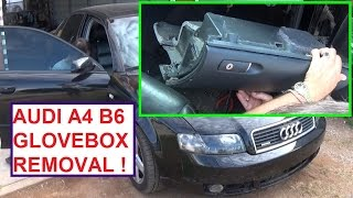 Audi A4 B6 Glovebox Removal and Replacement. Audi A4 Glove Box