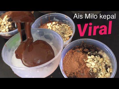 cara membuat es kepal milo Viral !!!!!!   Resepi aiss  Milo Kepal Malaysia