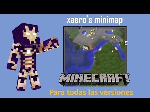 XAERO´S MINIMAP MOD ( TODAS LAS VERSIONES )! Minecraft review en español 2017