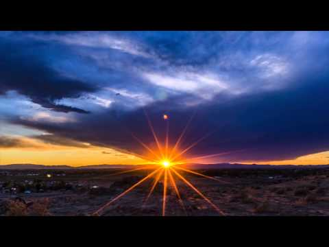 Sunset Time Lapse with Starburst over Fallon NV,