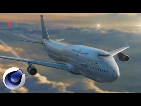 Создание классной сцены с самолетом в Cinema 4D
