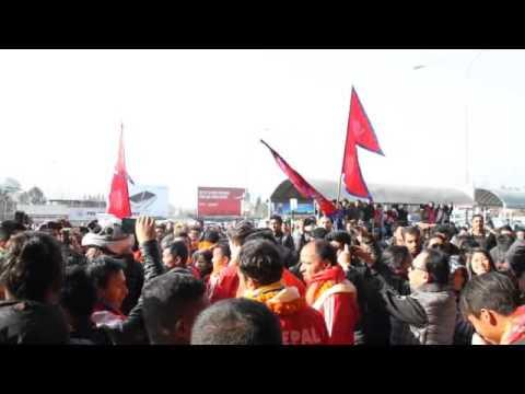 Heroic Welcome To Bangabandhu Gold Cup Winners Nepal National Team