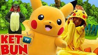 Pokemon pikachu dance - Bố ơi mình đi đâu thế | Nhạc Thiếu Nhi vui nhộn cho bé | Két Bun TV