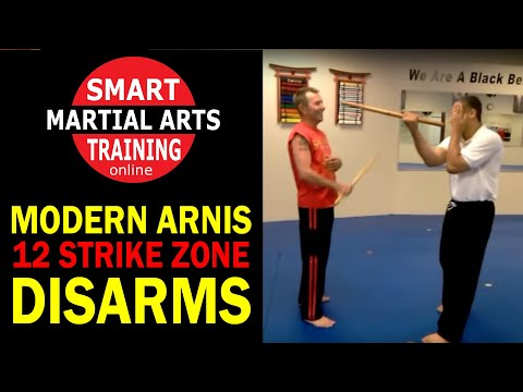 Modern Arnis - 12 Strike Zone Disarms