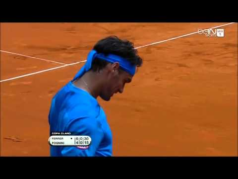 Fabio Fognini shocks David Ferrer from stands