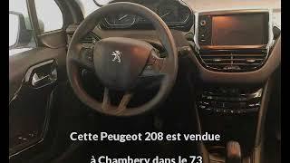Peugeot 208 occasion visible à Chambery présentée par Peugeot chambery