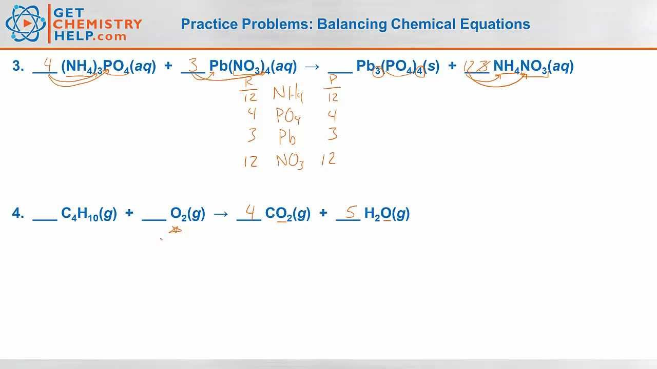 Balancing Chemical Reactions Worksheet 011 - Balancing Chemical Reactions Worksheet
