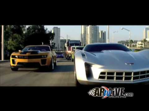 Exclusive footage edited by Michael Bay for Chevrolet of the new Autobot vehicles from Transformers: Revenge of the Fallen.
