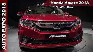 New Honda Amaze 2018 At Auto Expo 2018 - First Look In Hindi