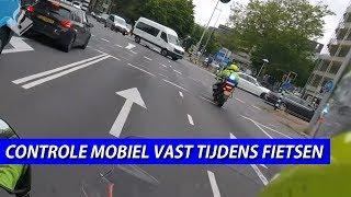 NIEUWE POLITIEMOTOR & Controle mobiel vast tijden het fietsen - Dennis en JW dienst op de motor.