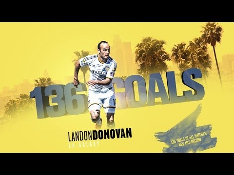 GOAL RECORD: All of Landon Donovan's 136 MLS regular season goals