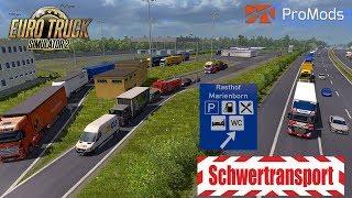 ETS2 I MAN TGX Euro 6 🚚  Schwertransport I Rasthof Marienborn 🔵 #764 ProMods-Tour [Deutsch/HD]