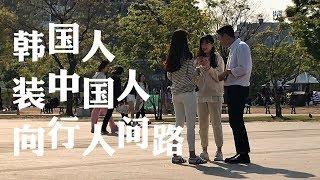 韩国人在首尔装中国人向行人问路,韩国行人居然....중국인인척 하고 길을 물어봤습니다
