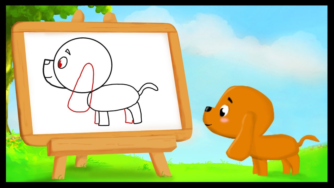 Comment dessiner un chien youtube - Photo de chiot a imprimer ...
