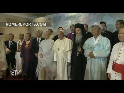 """Francisco a los líderes de varias religiones en Corea: """"Somos hermanos"""""""