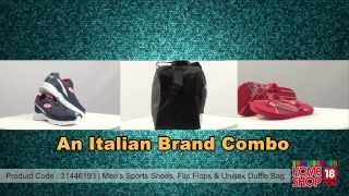 Homeshop18.com - Men's Sports Shoes, Slippers & Unisex Duffle Bag - Lotto Combo
