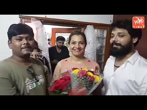 Bigg Boss Telugu Season 2 Runner-Up Geetha Madhuri Celebrations   Exclusive Video   YOYO Times
