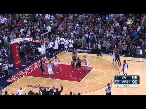 Bradley Beal game winner, San Antonio Spurs @ Washington Wizards, 4/11/2015